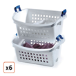 Rubbermaid® Stack 'n Sort™ Laundry Baskets - Pack of 6, $107.99