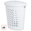Sterilite® Oval Laundry Hamper with Lid - Pack of 6, $72.99