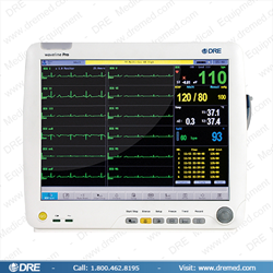 DRE Waveline Pro Touch-Screen Patient Monitor