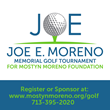 Joe E. Moreno Memorial Golf Tournament Date Announced
