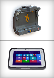 "The Havis Docking Solution for the Panasonic Toughpad FZ-M1 offers both advanced and basic port replication for the 7"" Windows-based tablet"