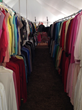 clothing at rummage sale