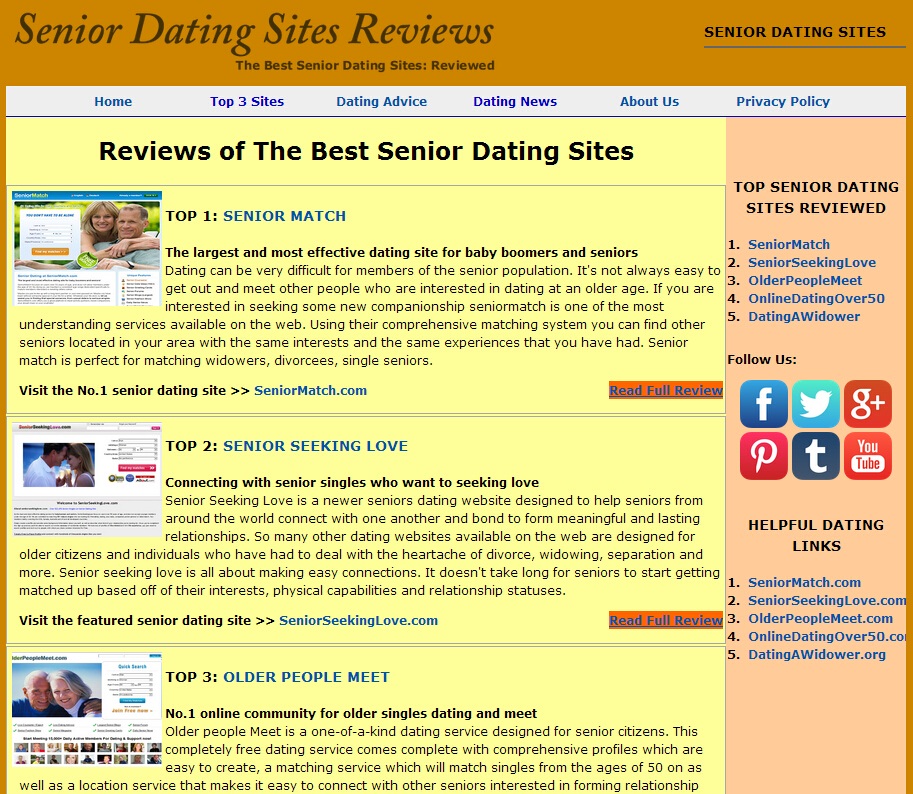 dating for seniors sites
