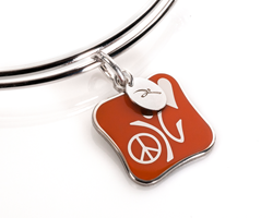 peace love and happiness sterling silver charm
