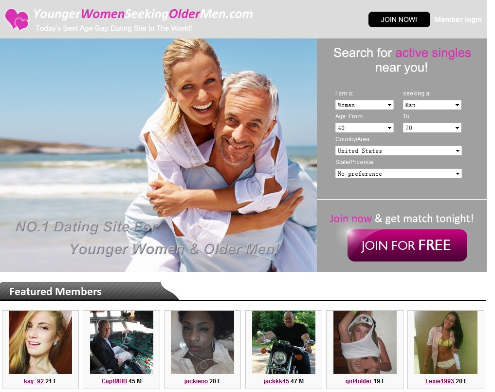 Younger women seeking older men dating website