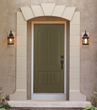 Thyme Green color on Therma-Tru Classic-Craft Canvas Collection Door.