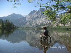 Fishing from a wheelchair