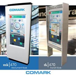 Comark's MK470 Monument & TK470 Transit Kiosks