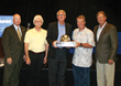 Rick Walsh and Steve Scherer accept the Rick Marshall Commitment to Excellence in Safety Award for Hayward Baker during the annual ADSC Awards Luncheon in July 2014.