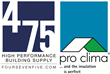 475 High Performance Building Supply is the North American distributor of Pro Clima products.