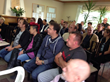 Attendees at Narconon Eslov listen to long-term graduate speak