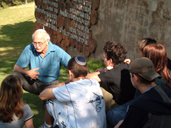Chaim Peri instructing youth at Yemin Orde Youth Village