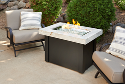 White Onyx Providence Gas Fire Pit Table