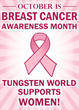 Tungsten World Goes Pink Supporting Breast Cancer Awareness Month With...