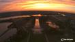 A mesmerizing sun sets over Washington DC
