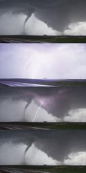 Stock Footage of Dual Tornado near Wakefield Nebraska