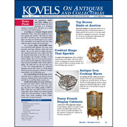 kovel, antiques, collectibles, baseball memorabilia , football memorabilia, display cabinet, toy stove, cocktail ring