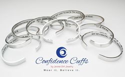 Hand stamped confidence cuffs from Jessie Girl Jewelry