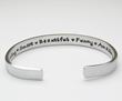 Hand stamped inspirational bracelets from Jessie Girl Jewelry.