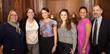Gail Simmons, Ph.D., Manhattanville College provost; Allyson Kapadia; Laura Montoya; Dana Miel; Lauren Ziadie; and Steve Albanese, Manhattanville School of Business assistant dean.