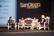 Cheryl Goodman, Founder and CEO of Social Global Mobile LLC moderates the Leadership panel with  Cathryn Ramirez, Tiffany & Co., Dr. Patricia Marquez, University of San Diego, Paula Brock, San Diego Zoo