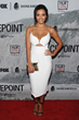 "Jessica Lucas carries the Jill Milan Art Deco Clutch at the Film Independent Screening of ""Gracepoint"" at Bing Theatre in Los Angeles, Sep 30, 2014 (Photo: Angela Weiss, WireImage)"