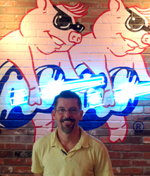 Robert Hubbard, the new owner of the Flower Mound, Texas Red Hot & Blue Restaurant