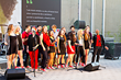 Catholic University of America Redline A Capella Perform at Monroe Street Market Grand Opening