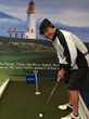 Eye tracking glasses analyze athletes' golf putting skills at the...