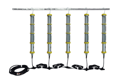 Five Two Foot Drop Lights for Hazardous Location Use