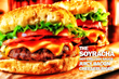 The Soyracha Hot Chili Soy Sauce Juicy Bacon Cheeseburger