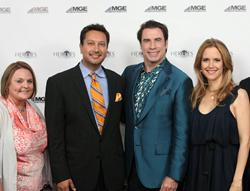 Dr. Irfan Atcha and Jenn Jensan with John Travolta and Kelly Preston