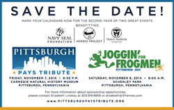 The Pittsburgh Pays Tribute Gala will be held on Nov. 7 and will be followed by the Pittsburgh Joggin' For Frogmen 5K race on Nov. 8.