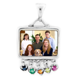 Rectangular Mother's Pendant with Birthstones by PhotoScribe