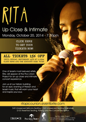 Rita: Up Close & Intimate at the Pico Union Project - Mondy, October 20, 2014
