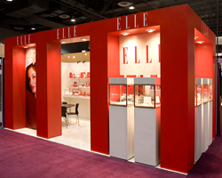 Xibit Solutions award winning trade show booth for Elle Jewelry