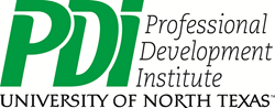 Logo for Professional Development Institute (PDI) at the University of North Texas