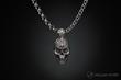 Sterling skull pendant