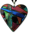 Hand-crafted Multi-Colored Cremation Heart Pendant from www.shineonbrightly.com