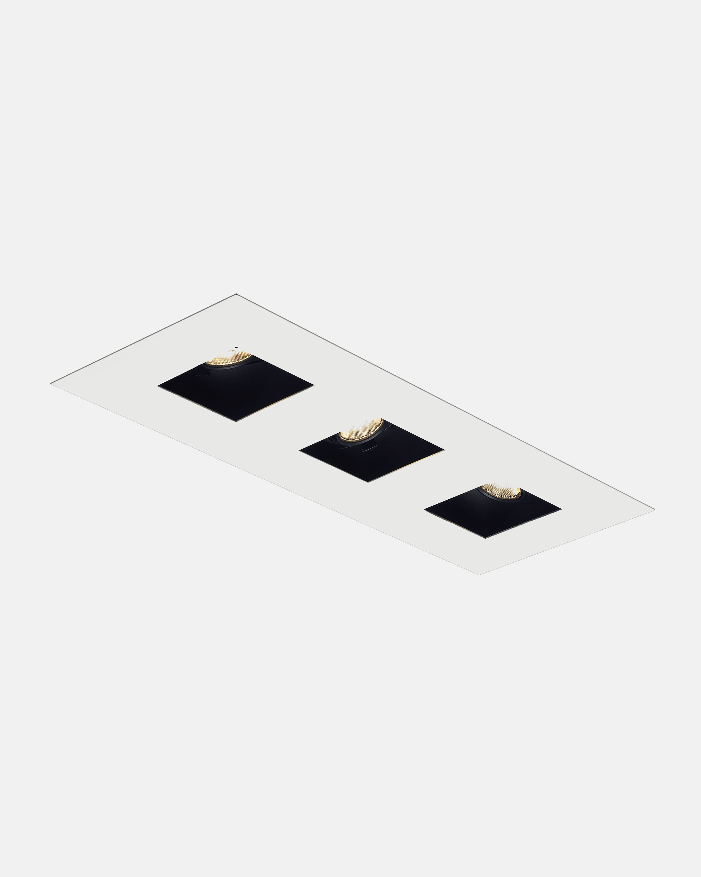 element by tech lighting. trimmed/flanged element led multiples, black housing with square white trim: a one-piece metal trim covers all module seams finished, element by tech lighting