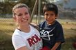 Cayce Dossett with one of the children from Dorie's Promise Guatemala