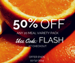 Fully Prepared Healthy Food 50% Off