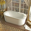 Venzi Padre 34 x 67 x 21 Oval Freestanding Soaker Bathtub with Center Drain VZ3467RS