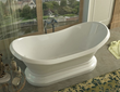 Venzi Midas 34 x 71 x 18 Oval Freestanding Soaker Bathtub with Center Drain VZ3471RS