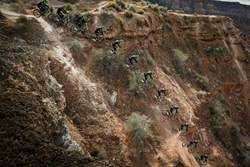 Tyler McCaul is known for wowing the fans at Red Bull Rampage and other FMB Tour events.