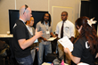 Richard Welsh interacts with students at the SMPTE Annual Technical Conference & Exhibition
