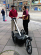 The PathMeT device measures sidewalk roughness and such measurements are related to wheelchair user comfort.