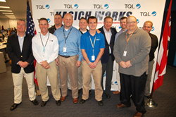 Ohio Gov. Kasich recognizes TQL veterans during a visit to the company's Cincinnati office  on Oct. 7