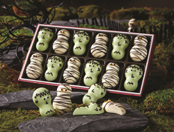 Halloween desserts including chocolates, cakes and candies are available at swisscolony.com.