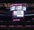 Club Blackhawks promoted on the Jumbotron at United Center